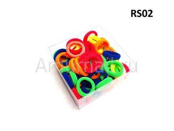 Резиночки для волос RS-Series (80 штук в коробчке) RS02 1