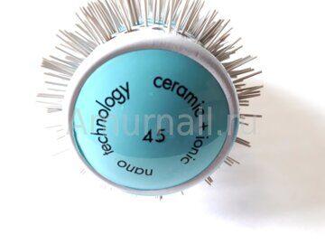 Брашинг парикмахерский Керамика + Ионы (голубой) оптом 2
