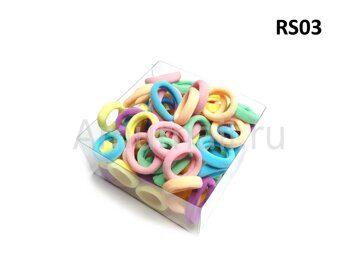 Резиночки для волос RS-Series (80 штук в коробчке) RS03 1